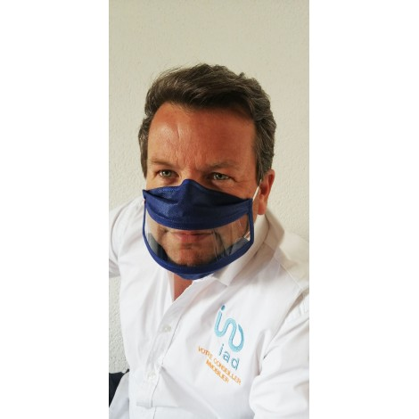 Masque fentre inclusif Bleu Roi